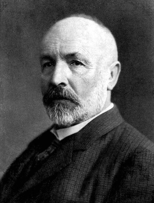 Photo portrait (black and white) of Georg Cantor.